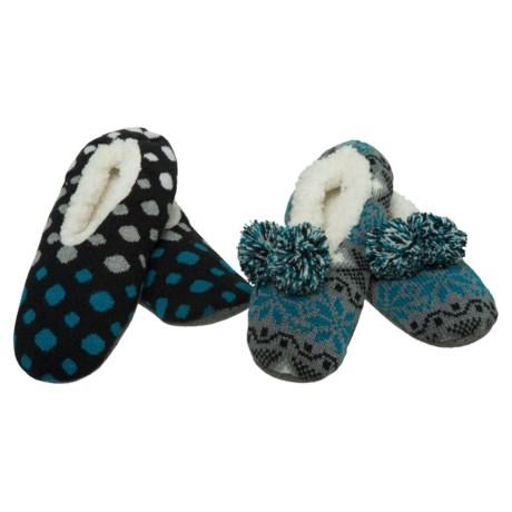 K.Bell Slipper Socks - 2-Pack (For Women)