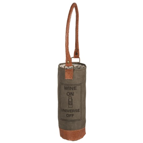 Mona B Upcycled Wine-On Wine Bag - Single Bottle (For Women)