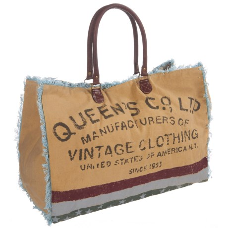 Mona B Queen Co. Ltd. Upcycled Canvas Weekender Bag (For Women)