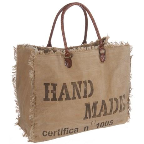 Mona B Handmade Upcycled Canvas Weekender Bag (For Women)