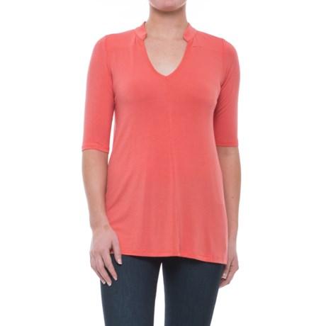 Yala Mandarin Collar Shirt - Elbow Sleeve (For Women)
