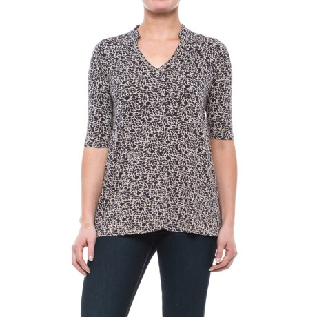 Yala Mandarin Collar Shirt - Elbow Sleeve (For Women)