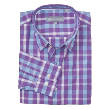 Hickey Freeman Beach Plaid Sport Shirt - Cotton, Hidden Button-Down Collar, Long Sleeve (For Men)