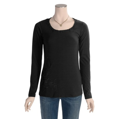 ExOfficio Dri-Release® Go-To Flora Shirt - Jersey Knit, UPF 30+ Long Sleeve (For Women)