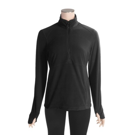 ExOfficio Migrator Zip Neck Shirt - Recycled Fleece, Long Sleeve (For Women)