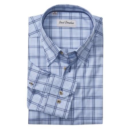 David Donahue Plaid Sport Shirt - Hidden Button-Down Collar, Long Sleeve (For Men)