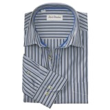 David Donahue Melange Stripe Shirt - Spread Collar, Long Sleeve (For Men)