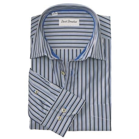 David Donahue Melange Stripe Shirt - Spread Collar, Long Sleeve (For Men)