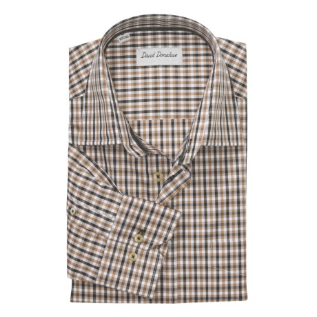 David Donahue Multi-Check Shirt - Spread Collar, Long Sleeve (For Men)