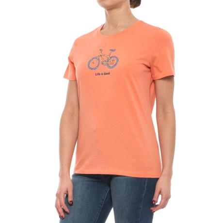 Life is good® Bicycle T-Shirt - Short Sleeve (For Women)