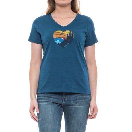 Life is good® Heart Mountain V-Neck T-Shirt - Short Sleeve (For Women)