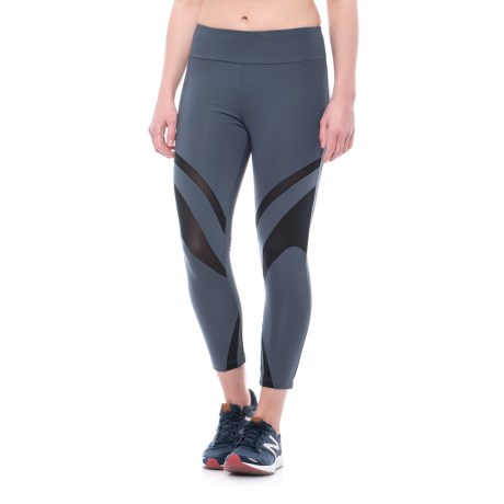 Peony High Lines Capri Leggings (For Women)