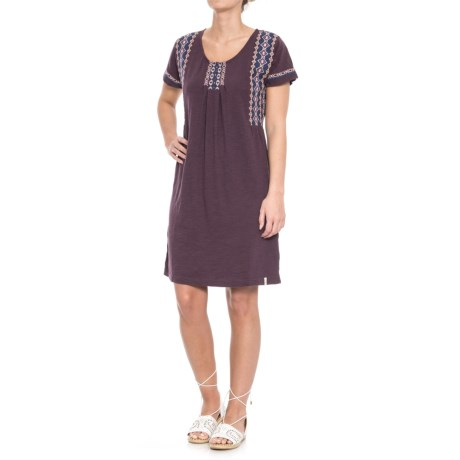 Woolrich Bell Canyon Eco Rich Dress - Organic Cotton, Short Sleeve (For Women)