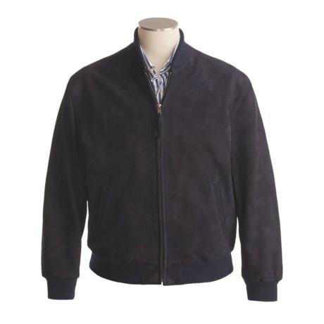 Golden Bear Nubuck Baseball Jacket - Knit Collar and Cuffs (For Men)