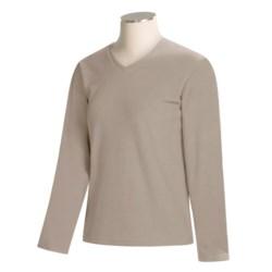 Specially made Fleece V-Neck Shirt - Long Sleeve (For Women)