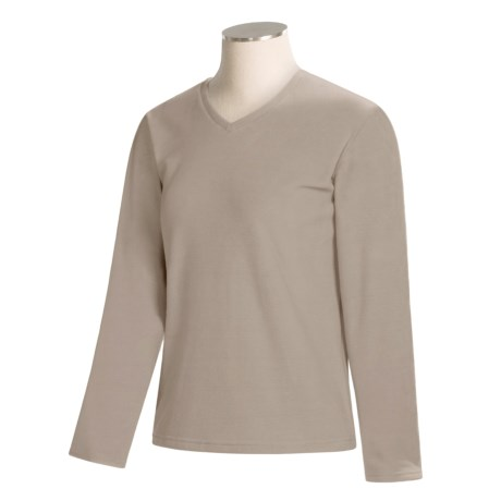 Fleece V-Neck Shirt - Long Sleeve (For Women)