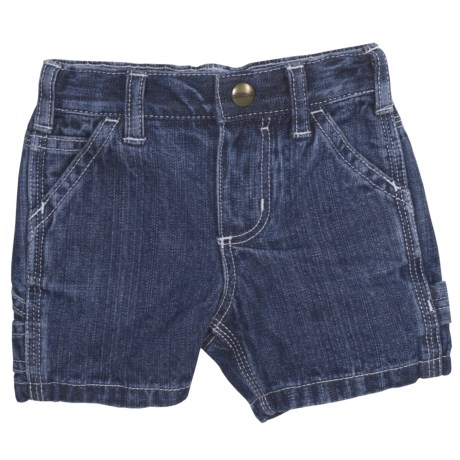 Carhartt Washed Dungaree Shorts (For Infant Girls)