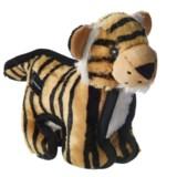 """Hyper Pet Tough Plush Tiger Squeaker Dog Toy - 10"""""""