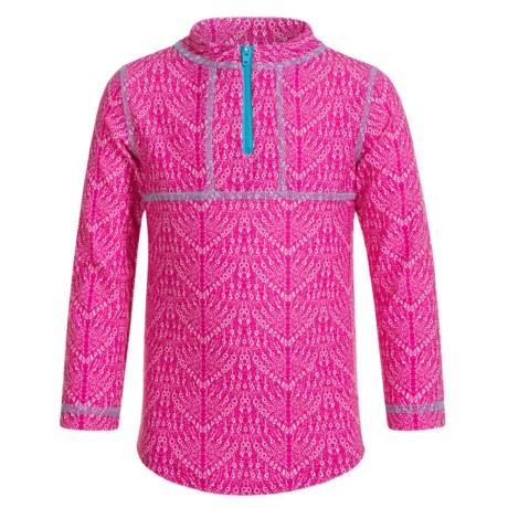 Mott 50 Mini Sonja Rash Guard - UPF 50, Zip Neck, Long Sleeve (For Toddlers Girls)