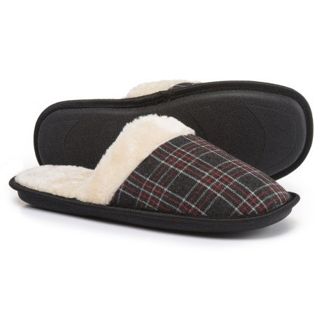 Great Northern Plaid Slippers - Fleece Lined (For Men)