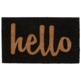 Home and More Hello Script Coir Doormat - 17x29""