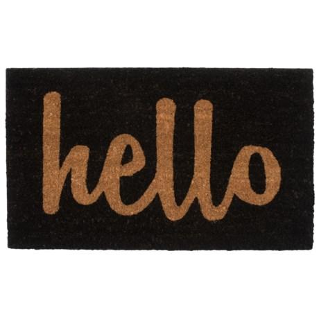 "Home and More Hello Script Coir Doormat - 17x29"""