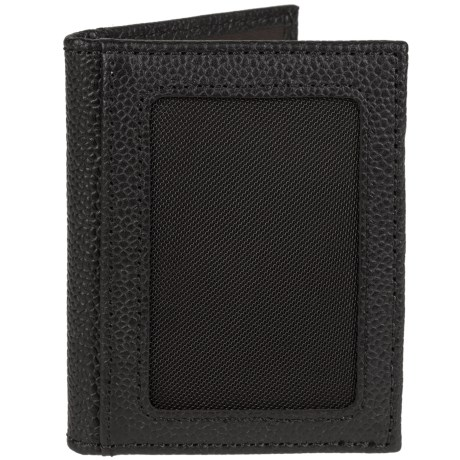 Will Leather Goods Pebbled Card Fold Wallet (For Men)