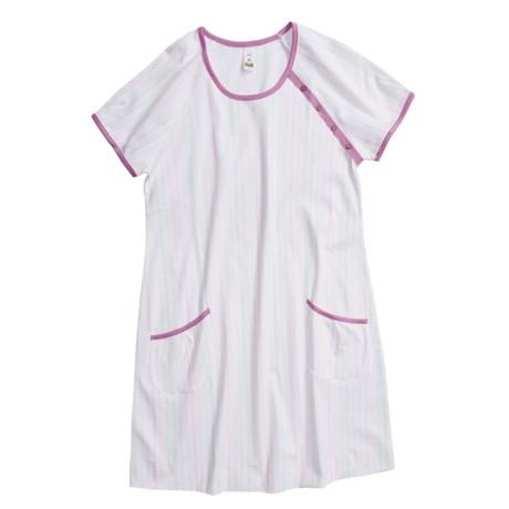 Calida St. Barbara Big Shirt - Interlock Cotton, Short Sleeve (For Women)