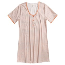 Calida Palmira Big Shirt - Interlock Cotton, Short Sleeve (For Women)