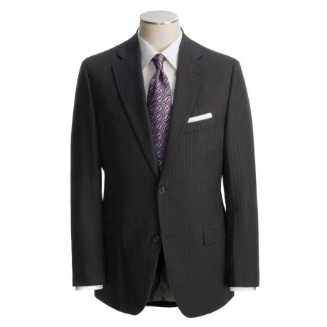 Jack Victor Black Track Stripe Suit - Wool (For Men)