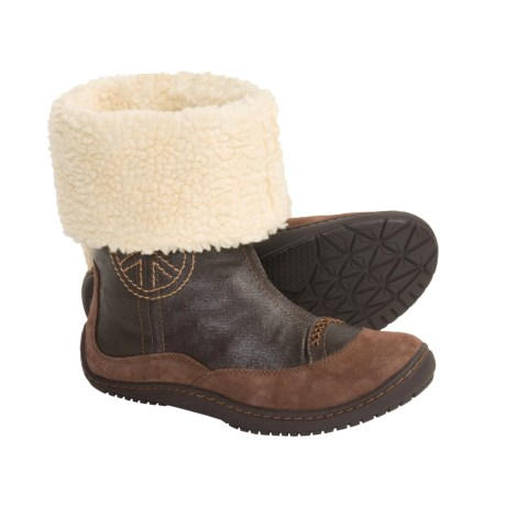 Earth Innerpeace Faux-Fur-Lined Shaft Boots (For Women)
