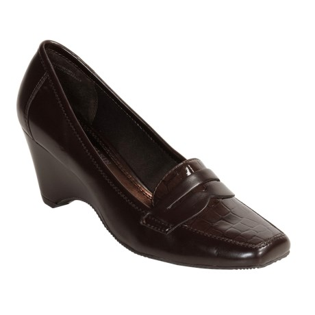 AK Anne Klein Santiago Loafer Shoes - Wedge Heel (For Women)