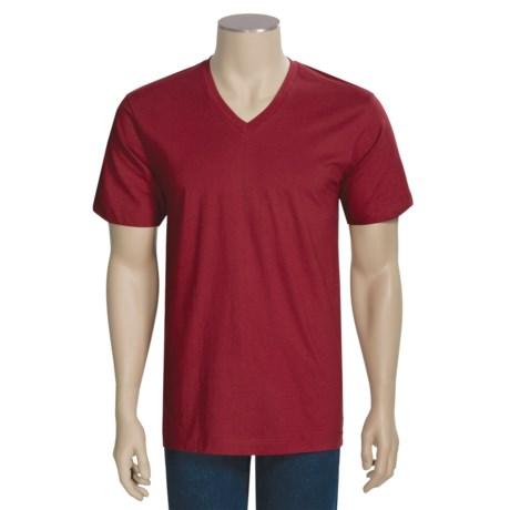 Calida Therma Liberty T-Shirt - Single-Jersey Cotton, V-Neck, Short Sleeve (For Men)