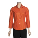 Farinaz Perfect Button-Front Shirt - Mercerized Italian Cotton, 3/4 Sleeve (For Women)