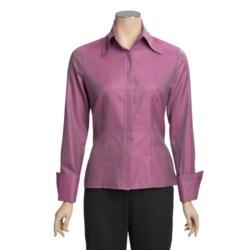 Farinaz Italian Cotton Twill Shirt - Mercerized, Long Sleeve (For Women)