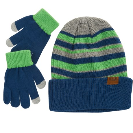 iXtreme Striped Beanie and Gloves Set (For Big Boys)