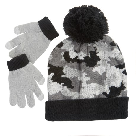 iXtreme Camo Beanie and Gloves Set (For Big Boys)