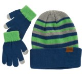 iXtreme Striped Beanie and Gloves Set (For Little Boys)