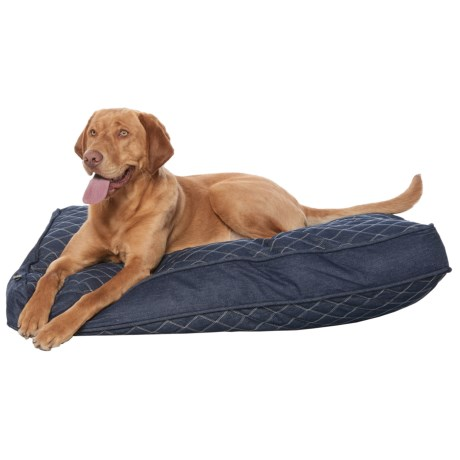 Max Studio Double Diamond Stitch Rectangle Dog Bed - 28x40""
