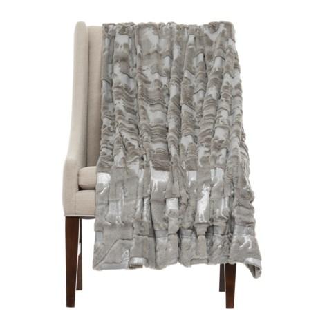 """THRO Danita Foil-Printed Throw Blanket - 50x60"""""""