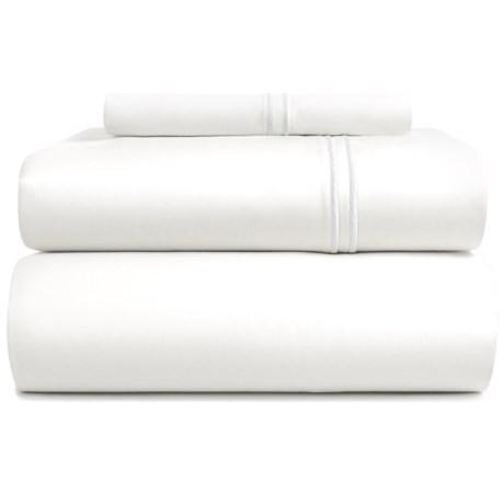 Bambeco Satin Stitch Organic Cotton Sheet Set - Twin, 500 TC