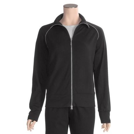 Joan Vass Cotton Knit Jacket (For Women)