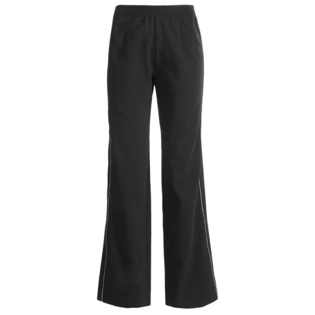 Joan Vass Tipped Pants - Stretch Cotton (For Women)
