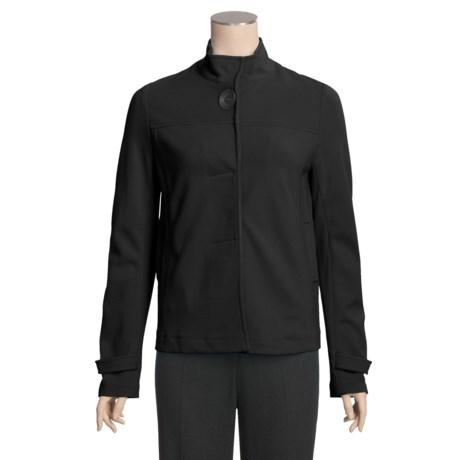Joan Vass Swing Knit Jacket  (For Plus Size Women)