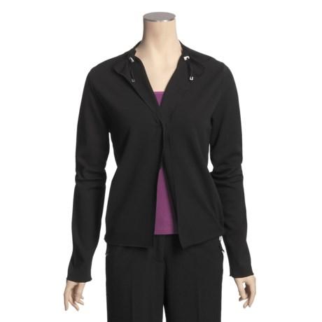 Joan Vass Single-Button Short Jacket (For Women)