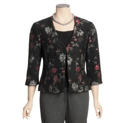 Madison Hill Floral Boucle Jacket - 3/4 Sleeve (For Women)