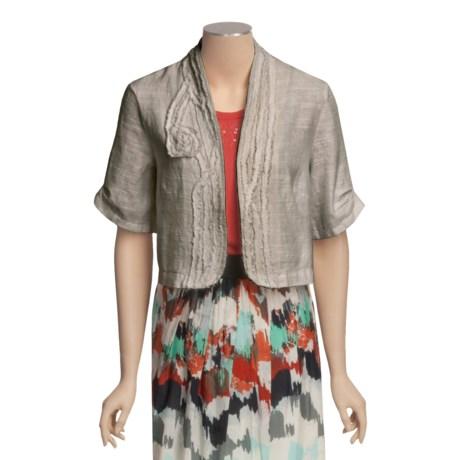 Two Star Dog Helena Crop Jacket - Textured Linen, Short Sleeve (For Women)