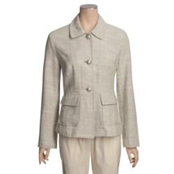 Two Star Dog Brigitte Jacket - Textured Linen, Button Front (For Women)