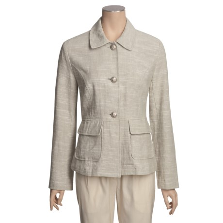 Two Star Dog Brigitte Jacket - Textured Linen, Button Front (For Women)