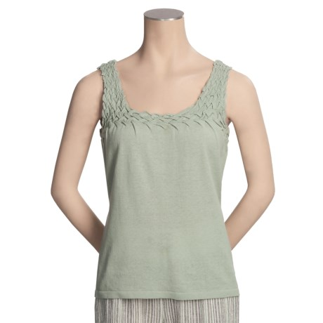 Two Star Dog Smocked Tank Top - Linen-Cotton, Sleeveless (For Women)